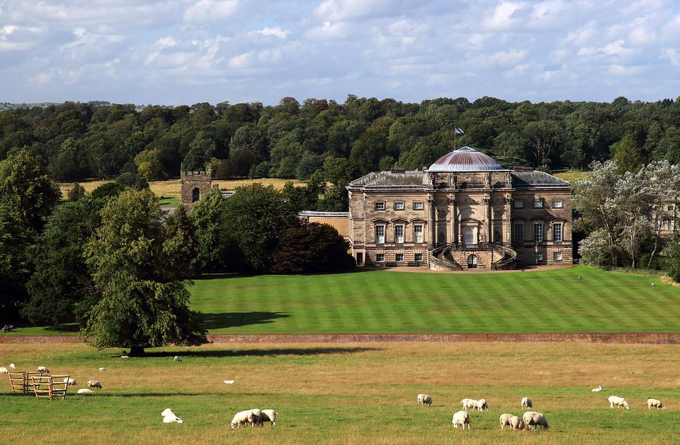 Kedleston Hall, Derbyshire, England, Landscape