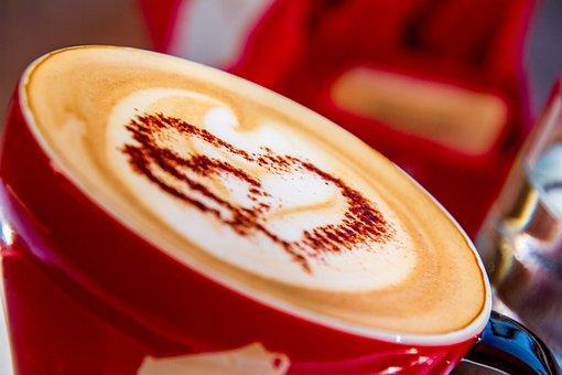 コーヒー, カップ, ドリンク, コーヒーカップ, Milchschaum, 心