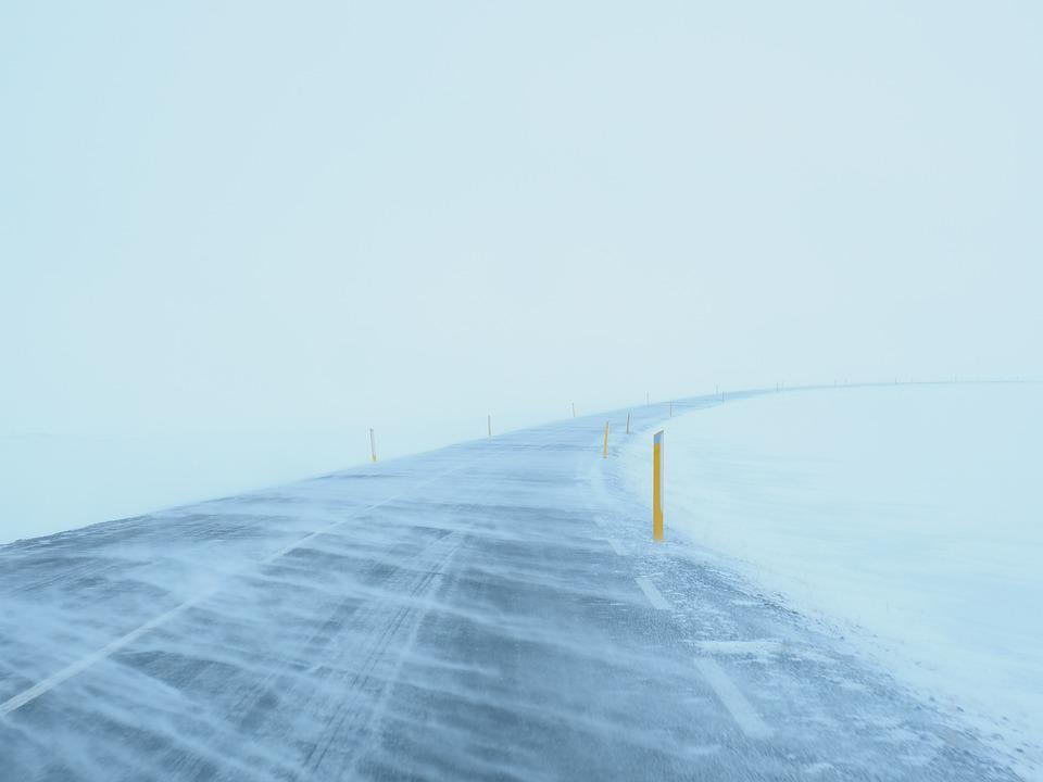 Blizzard, Road, Snow, Winter, Frost, Ice, Cold