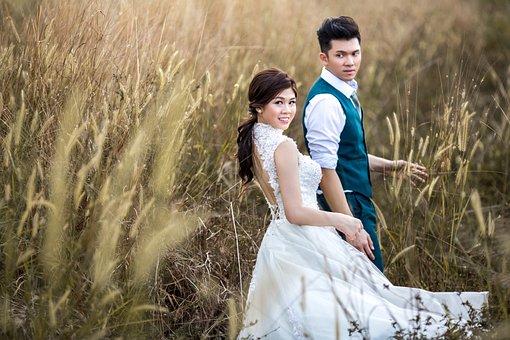 Wedding, Couple, Marriage, Groom, Bride