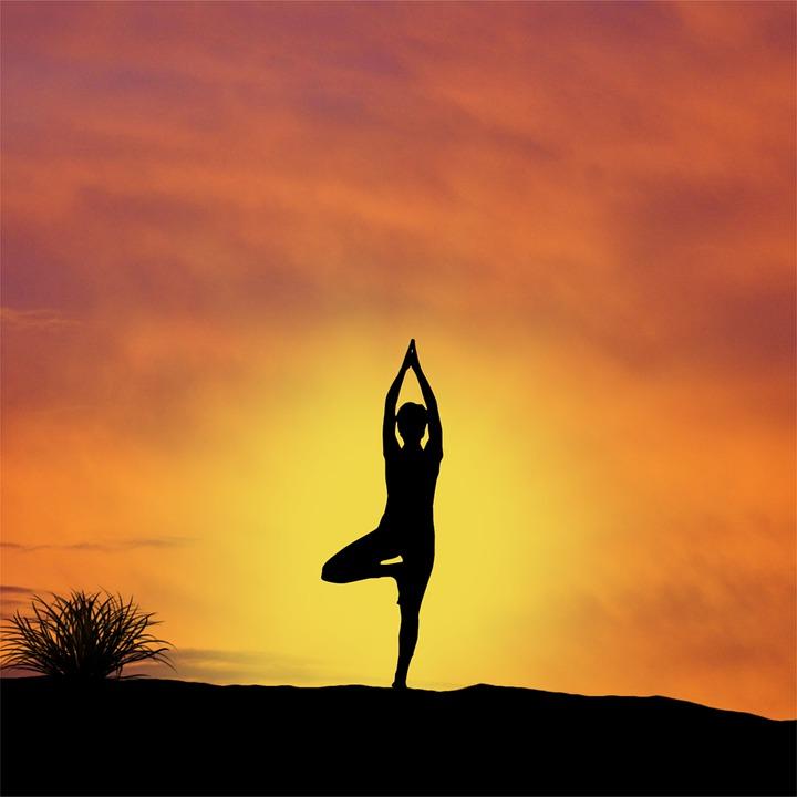 йога поза закат