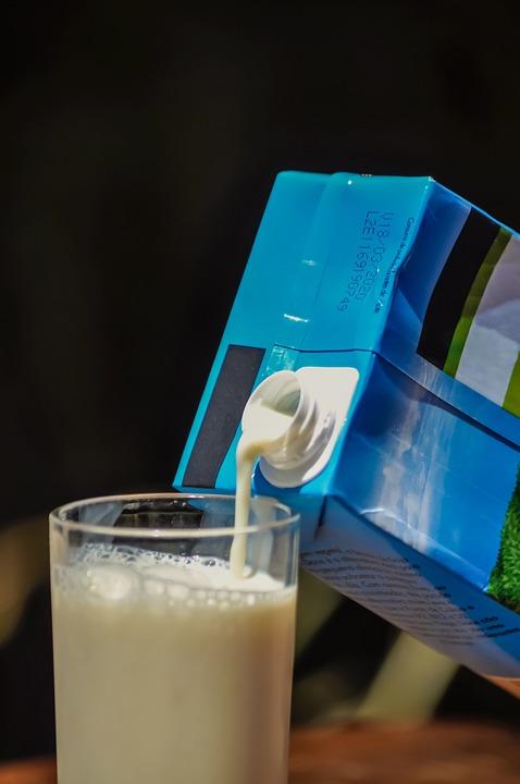 Milk, Soya, Glass, Carton, Blue, Drink, Beverage, Kid