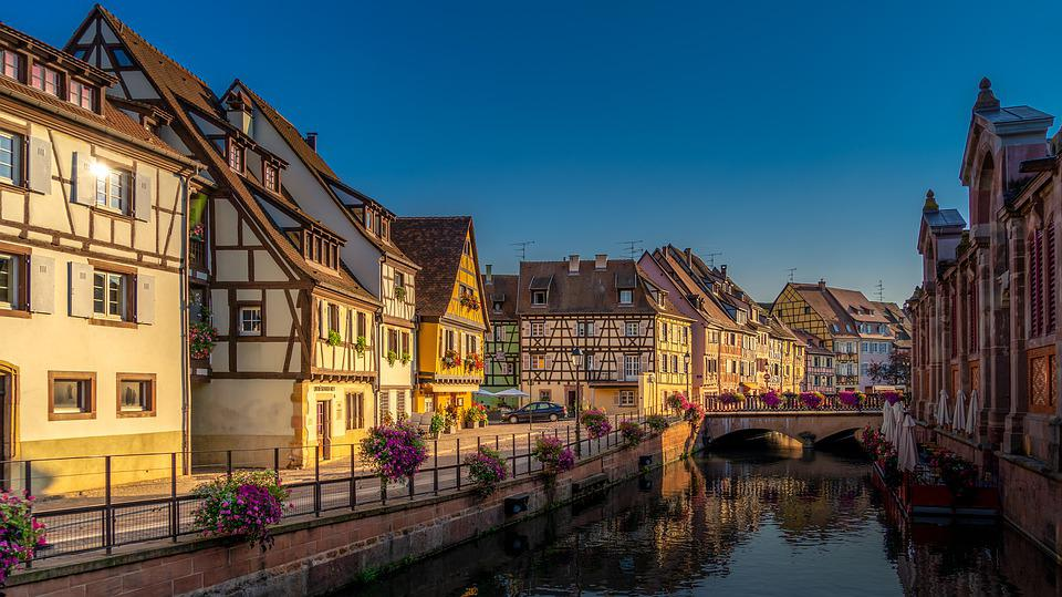 Colmar, Alsace, France, Facade, House, Historically