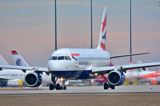 エアバス, 飛行機, ジェット, フライト, 空港, 航空会社, トランスポート