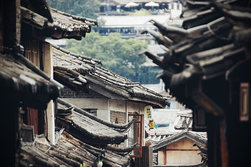 Roof, Houses, Old, China, Asia, City