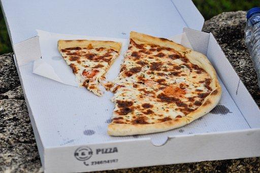 ピザ, 食品, 夕食, テイクアウト, 取出, ファーストフード, 石