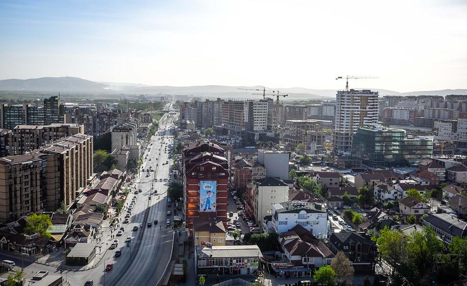 Kosovo, Prishtina, Pristina, Dos Balcãs, Cidade, Céu