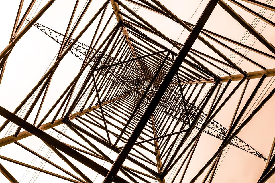 足場鋼, 構造, 発電, Strommast, 電気, 高電圧, 電源装置, 鋼, 業界, 電力線