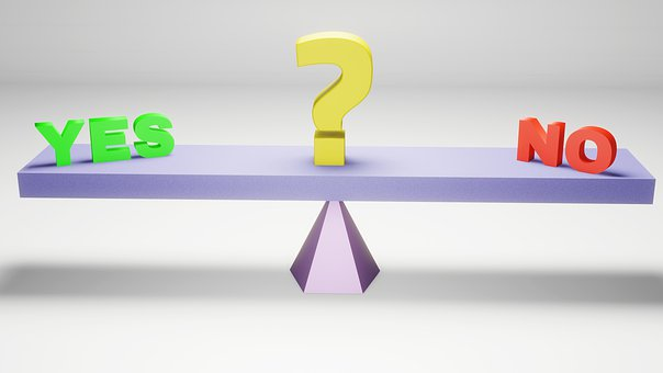 Ja, No, Vraag, Evenwicht, Keuze, Besluit