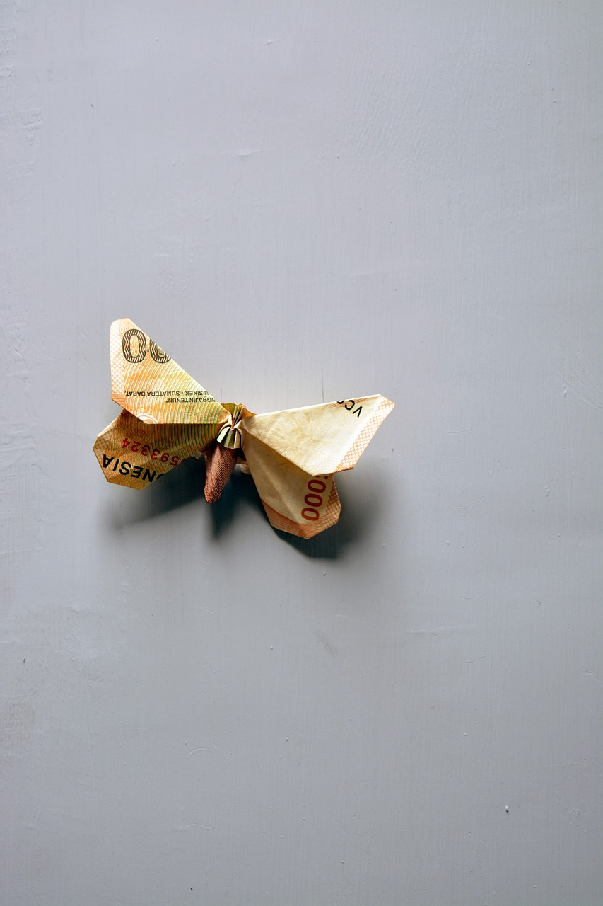 Easy Dollar origami BUTTERFLY 🦋 money origami made easy - YouTube | 1280x853