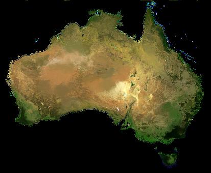 Australia, Continent, Aerial View