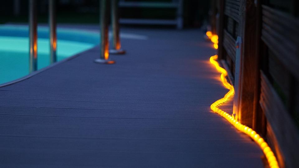 pool decorations light