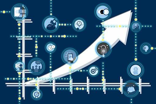 矢印, 成功, ネットワーク, ビジネス, 成長, 建物, 構造