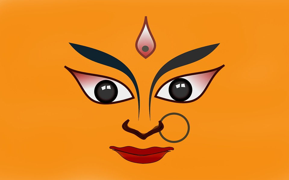 Durga, Navratri, India, Hindu, Culture, God, Religion