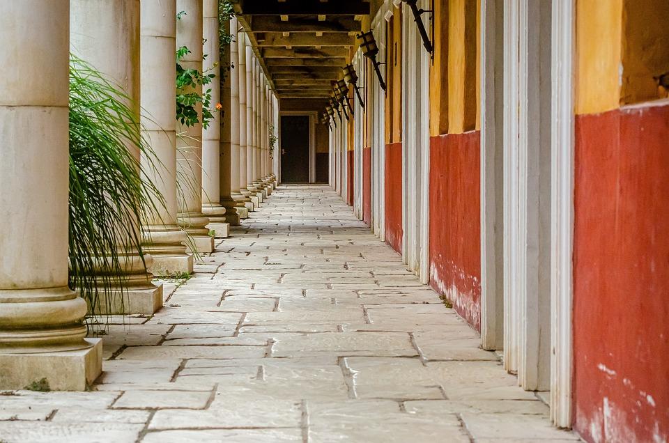 Couloir, Colonne, L'Architecture, Bâtiment, Hall