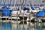 łódki, port, przystań