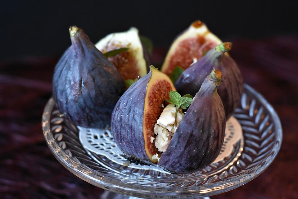 Fig, Cut Open, Dessert, Fruit, Healthy, Food, Halved