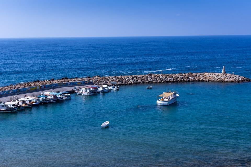 St, George, Harbor, Paphos, Cyprus, Coast, The Tropical