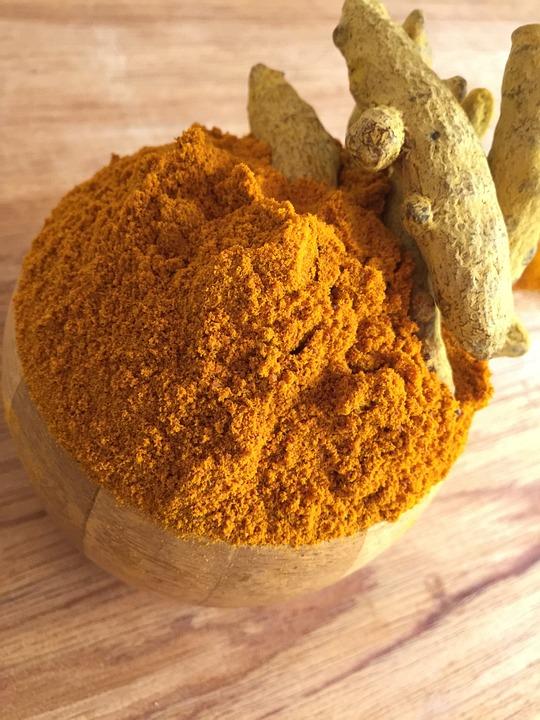 Curcuma, Épices, Aliments Sains, Assaisonnement