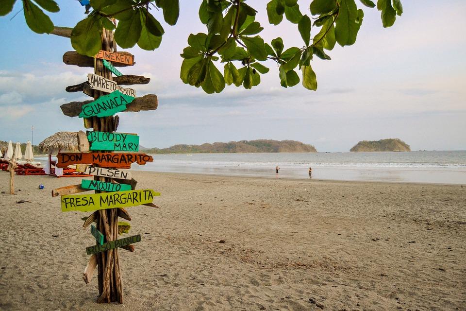 Costa Rica, Playa Samara, The Pacific Ocean, Ocean, Sky