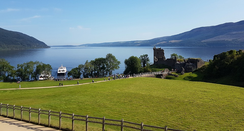 View of Urquhart Castle in the backdrop of Loch Ness