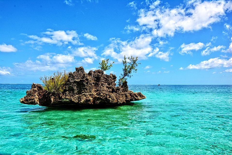 Wyspa, Tropiki, Mauritius, Wakacje, Raj, Krajobraz