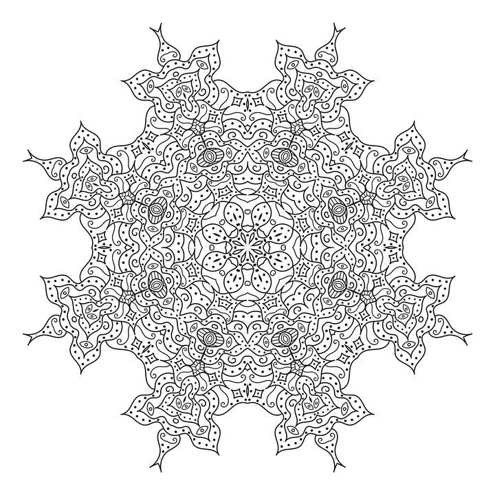 Kompleks Mandala Boyama Pixabay De Ucretsiz Resim