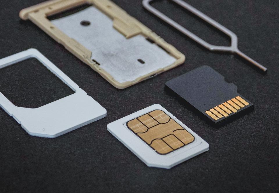Simカード, カード, メモリ, マイクロSd, 電話, 技術, モバイル, 通信, 細胞の, 携帯電話