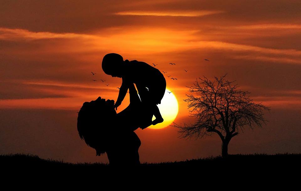 Mãe, Bebê, Amor, Pôr Do Sol, Praia, Jogar, Feliz