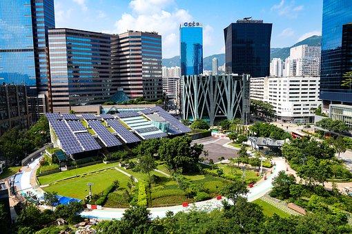 Solar, Panel, City, Energy, Electricity