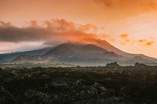 Kintamani, Mount, Early, Morning, Fog