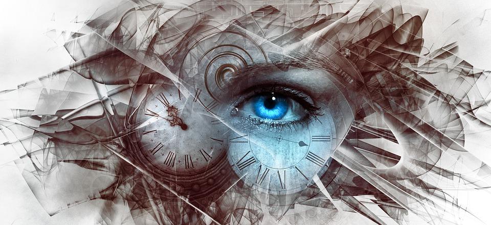 Fantasia, Surreale, Occhio, Tempo, Orologio, Mistico