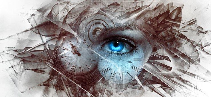 Fantasy, Surreal, Eye, Time, Clock