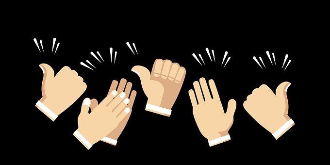 人, 拍手, コメディ, 視聴者, 応援団, 人間, ブラック, 手, ような