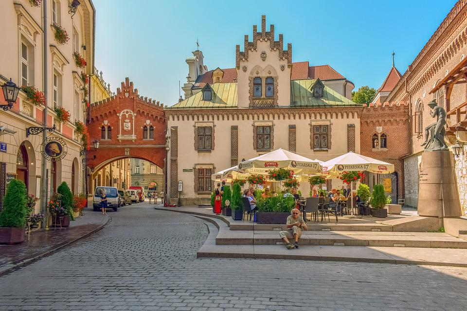 Old historical monuments in Cracow