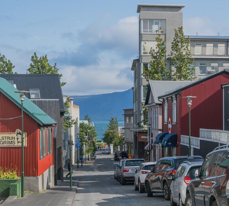 Islandia, Reykjavík, Architektura, City, Górskie