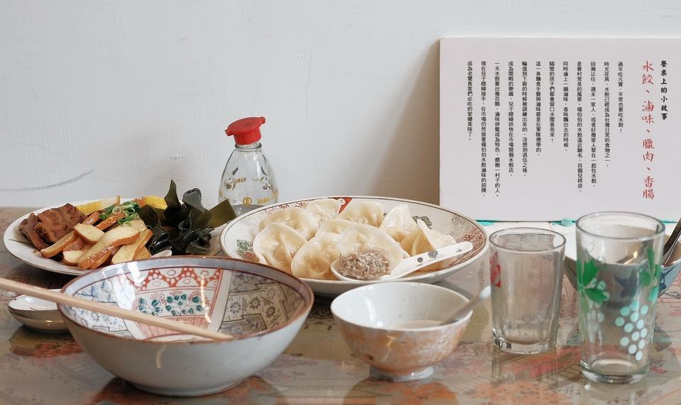 食物, 美食, 水餃, 碗
