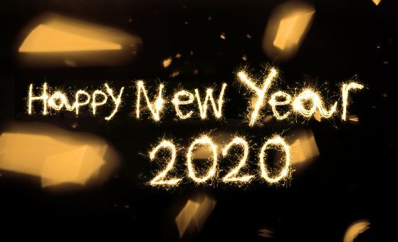 Happy, New, Year, 2020