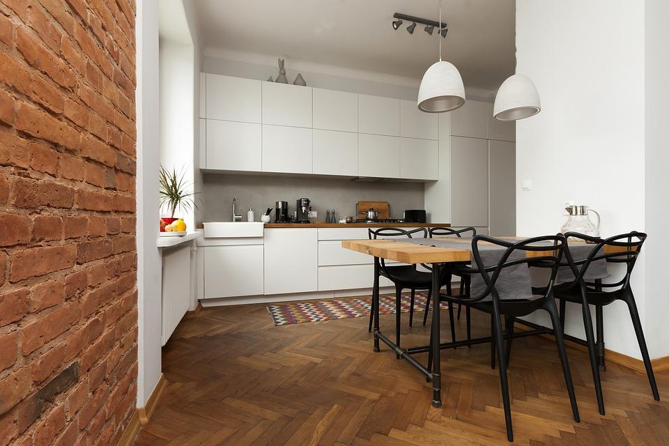 Апартамент, Стена От Тухли, Маса, Тухла, Design