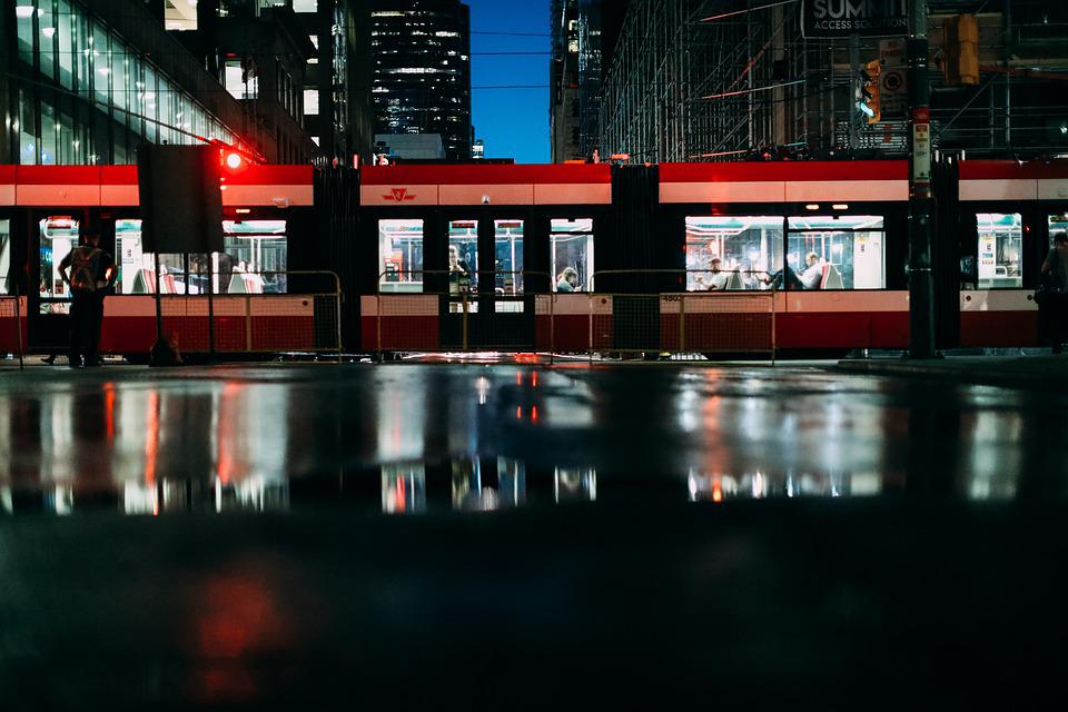 City, Transit, Streetcar, Toronto, Transportation