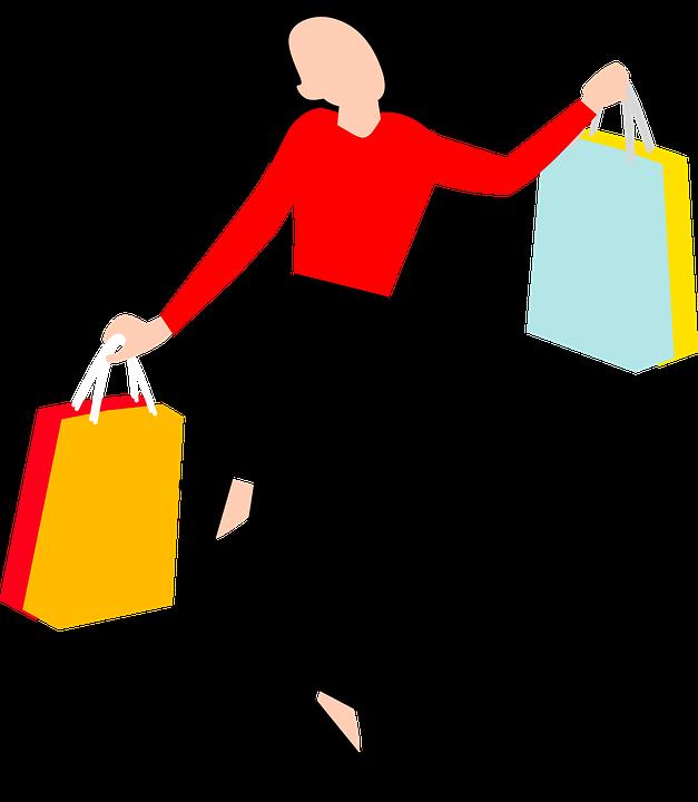 ショッピングバッグを持っている女性の画像|リピート率を上げる5つの方法|リピート率を上げる!今すぐできる方法5選|アインの集客マーケティングブログ