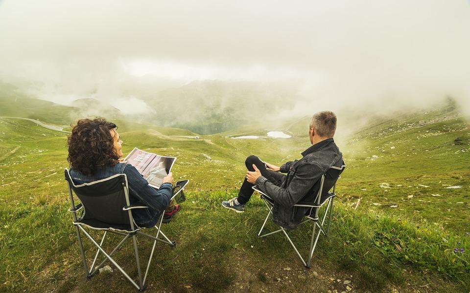 Paar, Wolken, Relatie, Alpen, Vrouw, Landschap