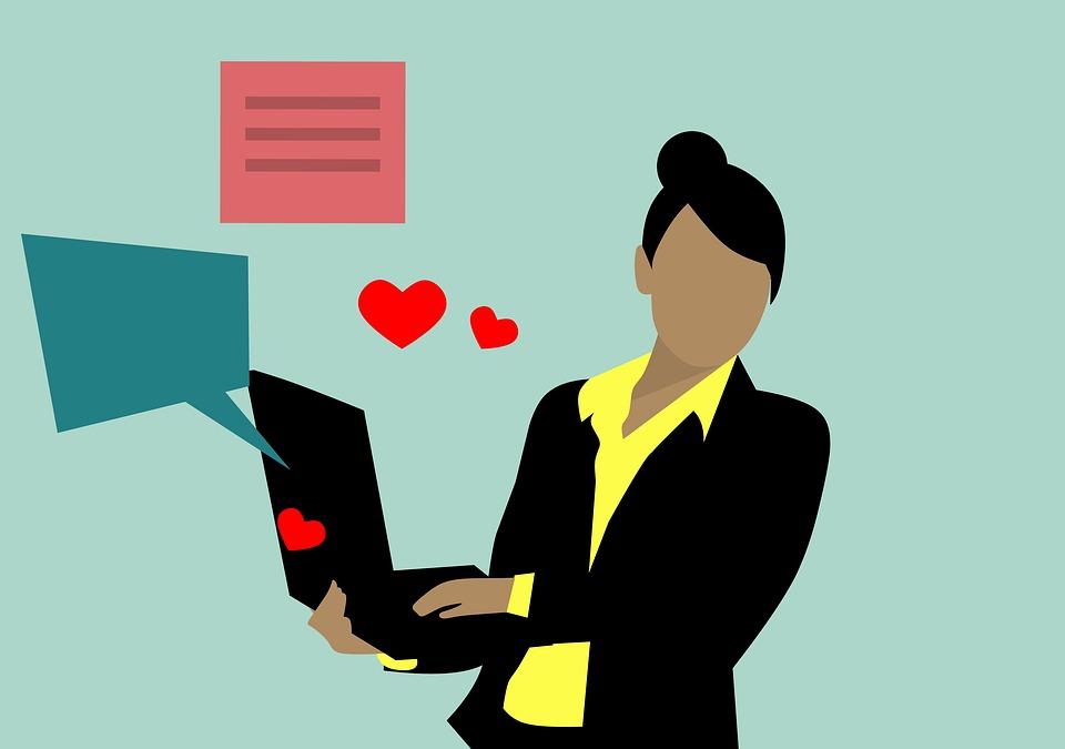 Niña, Webcam, Monitor, Internet, Mujer, Afroamericano