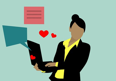 Menina, Webcam, Monitor, Internet