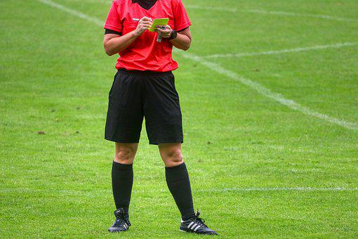 Yellow Card, Note, Football, Referee