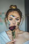 rose, oczy, portret