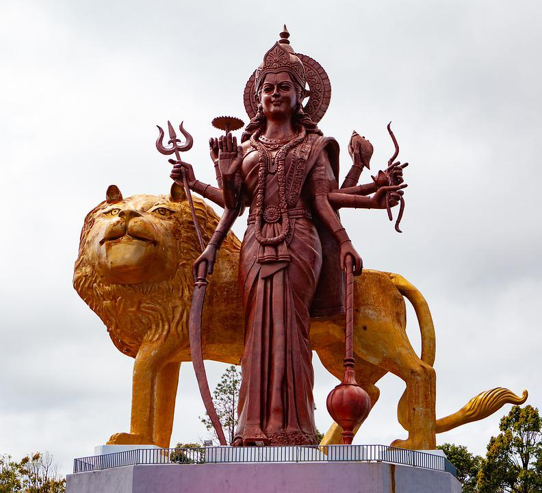 Many of the Hindu gods carry weapons that depict the inner tools you have to take apart the ego.