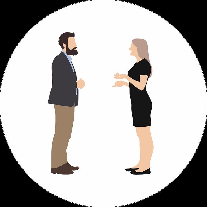 Personas, Hablando, Gesticulando, Conversación, Reunión