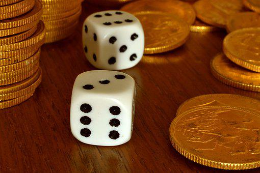 Dice, Gambling, Gold, Pounds, Game, Luck