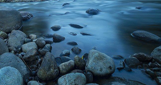 河, 水, 性质, 景观, 美丽, 石头, 反思, 溪, 树, 风景